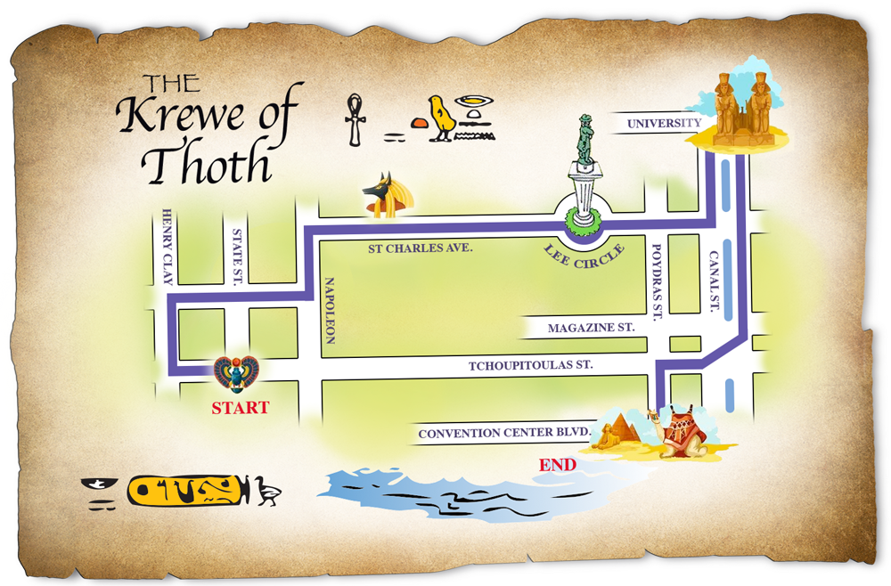 Route Krewe Of Thoth